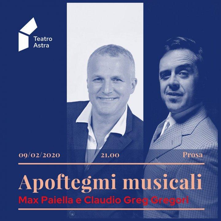 APOFTEGMI MUSICALI   MAX PAIELLA E CLAUDIO GREG GREGORI